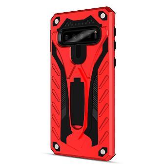 For Samsung Galaxy S10e tilfelle, rustning sterk støtsikker deksel kickstand, rød