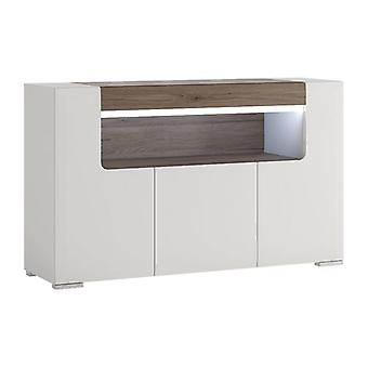 Lumia 3 Door Sideboard With Open Shelving (inc. Plexi Lighting)