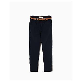 Zippy mørkeblå bukser med bælte