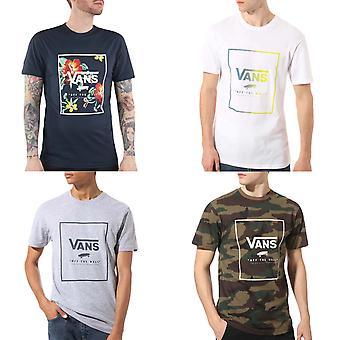 Vans Mens Print Box Slim Fit Cotton Short Sleeve Crew Neck T-Shirt Top Tee