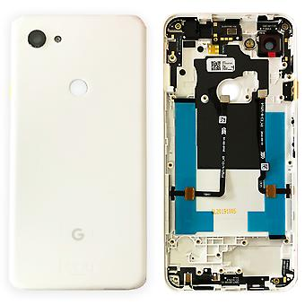 Google Battery Cover for Pixel 3A XL White Clear White Battery Cover Spare Part Backcover Lid Battery