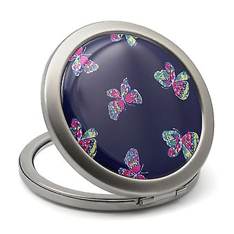 Specchio compatto di farfalle