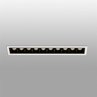 Faro Troop - LED Weiß Schwarz Einbau Downlight 10x 2W 3000K - FARO43703
