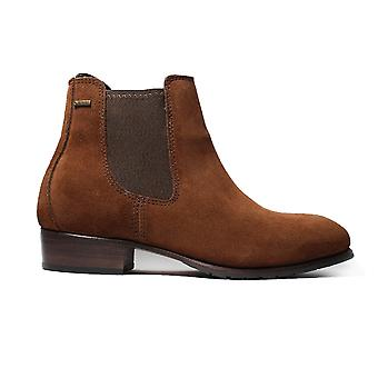 Dubarry Cork Russet Brown Suede Leather Womens Pull On Chelsea Boots