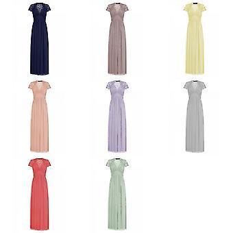 Little Mistress Womens/Ladies Embellished Cap Sleeve Maxi Dress
