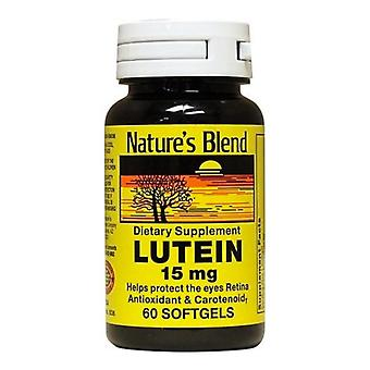 Nature's blend lutein, 15 mg, softgels, 60 ea