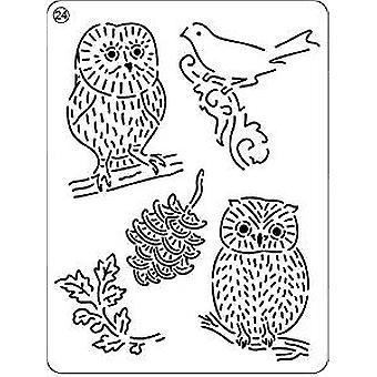 Pergamano UK Owls 24 Mini Grid, Silver
