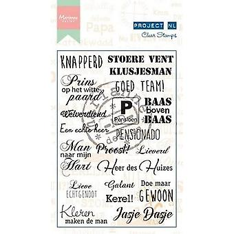 Marianne Design Clear Stamp - Project NL Heren (NL) PL1519