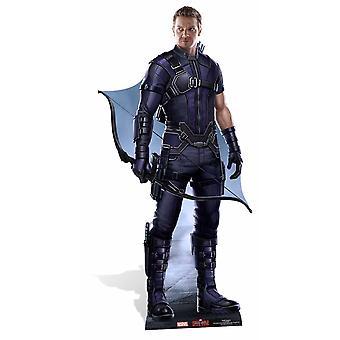 Hawkeye Marvel Lifesize kartong utklipp / stående / stå upp