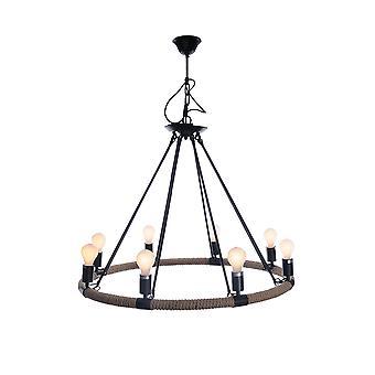 """32"""" x 37"""" x 32"""" 8 Bulbs, Rope - Pendant Lamp"""