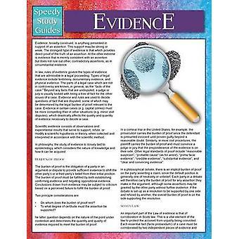 Evidence Speedy Study Guides by Publishing LLC & Speedy