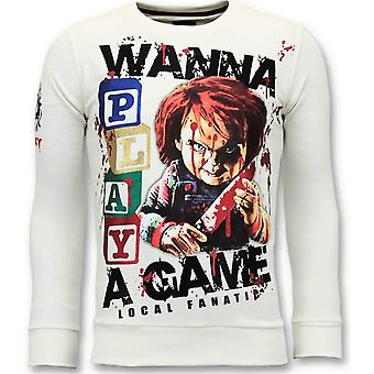Sweater - Chucky Childs Play - White