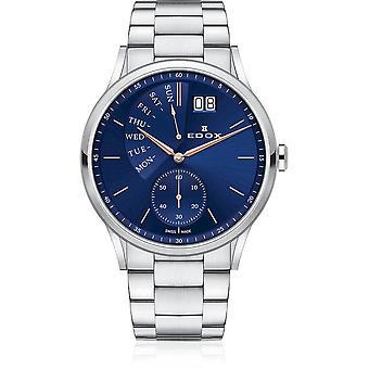 Edox - Wristwatch - Men - Les Vauberts - Date Retrograde - 34500 3M BUIR