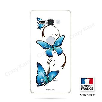 Hull For Sony Xperia Xz2 Compact Soft Butterfly Pattern And Arabesque On White Background