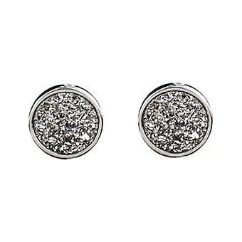 Elisabeth Landeloos - Dayline - Earrings with Planitium (drusy) (rhod) - OR1035