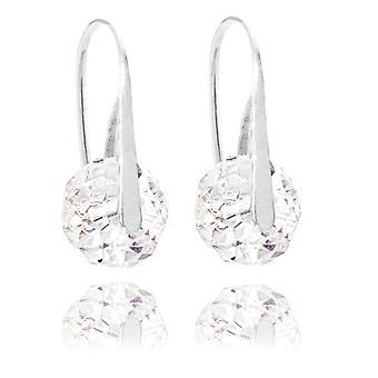 Ah! Jewellery Sterling Silver Moonlight Crystals From Swarovski Briolette Fish Hook Earrings