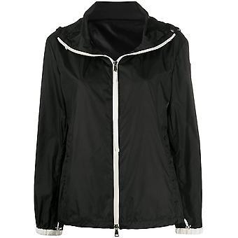 Moncler 1a74300c0438999 Women's Black Nylon Outerwear Jacket