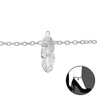 Feather - 925 Sterling Silver Anklets - W33458x
