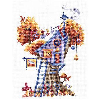 Andriana Cross Stitch kit - Enigmatic Treehouse