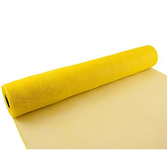 Yellow 53cm x 9.1m Deco Mesh Roll for Wreath Making, Floristry & Crafts