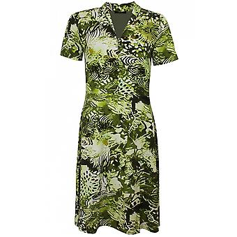 Yest Green Bold Print Dress