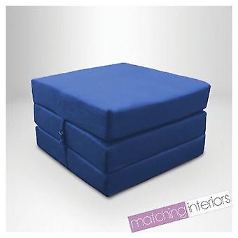 Ready Steady Bed | Water Resistant Fold Out Z Bed Cube Mattress with Fastening (Blue)