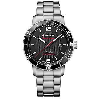 Wenger Roadster Black Dial Stainless Steel Bracelet Men's Watch 01.1841.104 RRP £165