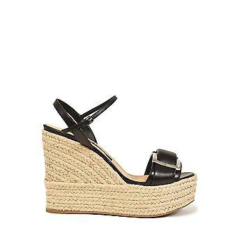 Sergio Rossi A88860mnan071000 Femmes'sandales en cuir noir