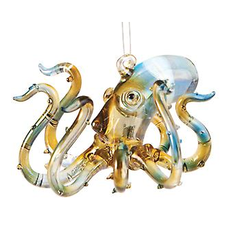 Oceaan zee dier Octopus glas 3 Inch Holiday Ornament beeldje