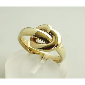 Yellow gold wedding ring hearts model