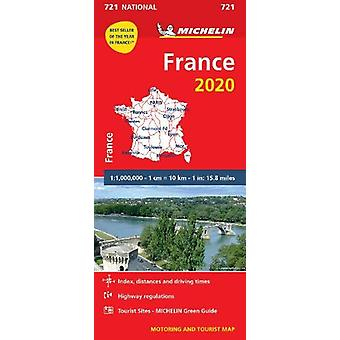 France 2020 - Michelin National Map 721 - Map - 9782067242746 Book