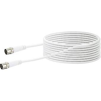 Schwaiger Antennas, SAT Cable [1x F quick connector - 1x F quick connector] 10.00 m 10 dB fourfold shielding White