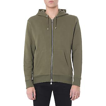 Balmain Th13643i2617ua Men's Green Cotton Sweatshirt
