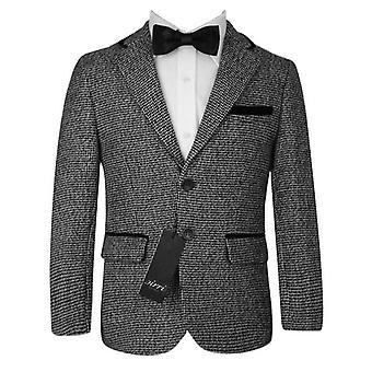 Boys Grey and Black Tweed Blazer Kids Jacket