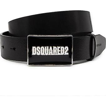 Dsquared2 Plaque Leather Belt