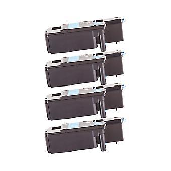 RudyTwos 4 x ersättning för Dell 593-11021 Toner enhet Cyan kompatibel med 1250 1250c, 1350, 1350cn, 1350cnw, 1355, 1355cn, 1355cnw, C1760, C1760nw, C1765, C1765nf, C1765nfw, C17XX