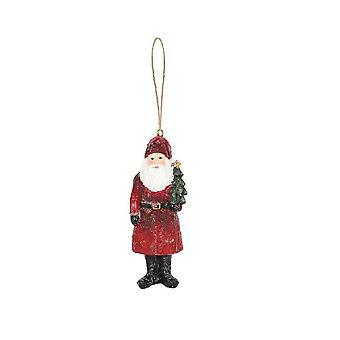不同的东西圣诞老人与圣诞树装饰