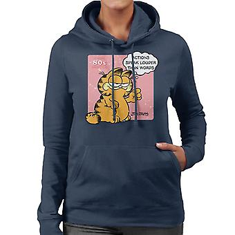 Garfield Actions Speak Louder Than Words Quote Women's Hooded Sweatshirt