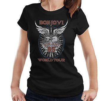 Bon Jovi 85 World Tour naisten T-paita