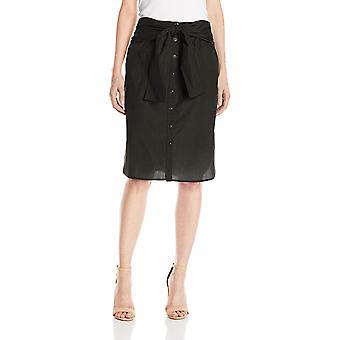 Marke - Lark & Ro Frauen's Krawattenrock, schwarz, klein