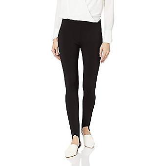 Brand - Lark & Ro Women's Ponte Stirrup Legging, Black, Medium