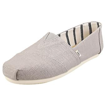 Toms Classic Morning Heritage Womens Slip On Shoes in Dove