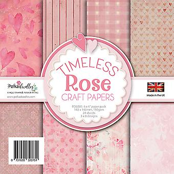 Polkadoodles Timeless Rose 6x6 Inch Paper Pack