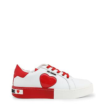 Love moschino ja15023 women's synthetic leather sneakers