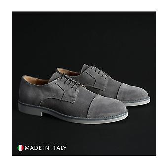 Madrid - Shoes - Lace-up shoes - 605_CAMOSCIO_GRIGIO - Men - gray - EU 39