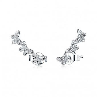 Silver Earrings Butterfly - 6676