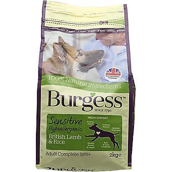 Chien adulte sensible Burgess - Agneau & Riz - 2kg