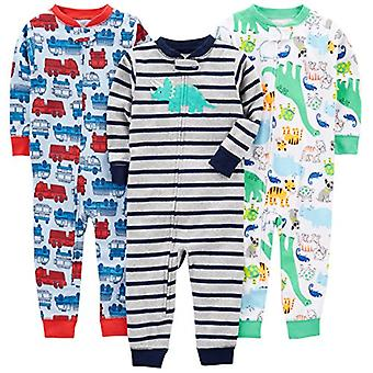 Simple Joys de Carterăs Baby Boysă Toddler 3-Pack Snug Fit Footless Cotton Pa...