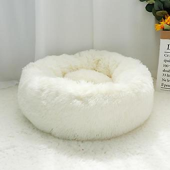 Fluffy Comfortable Soft Washable Donut Cuddler Round Dog Bed Cat Cushion