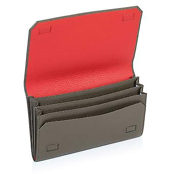 Olive Green Richmond Leather Travel Wallet Organiser